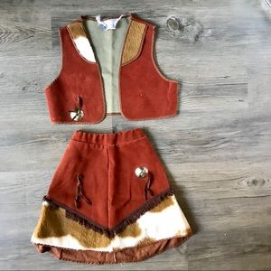 """VTG Girls Napoli """"Suede"""" 2 Pc. Western Outfit *S15"""
